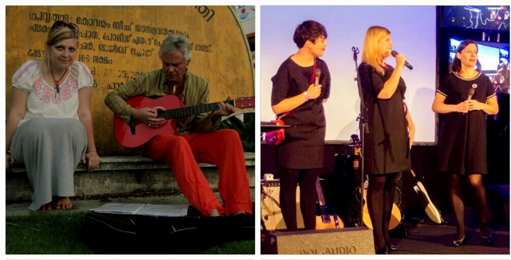 Singing the Beatles songs in Trivandrum and opening the Biggest Xmas Event for Bloggers in Poland